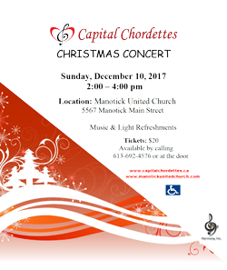 Capital Chordettes Christmas Concert Promo