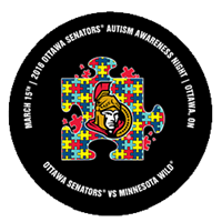 Senators Autism Awarness Night Crest