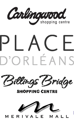 Lincoln Fields-Place Orleans-Merivale Mall-Carlingwood Logos