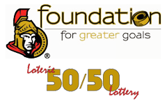 Ottawa Senators Foundation 50/50 Logo